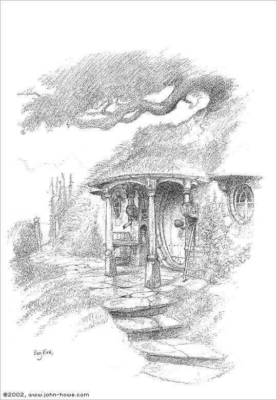 John Howe Drawings Bag End
