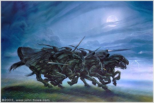 John Howe (grand illustrateur de Tolkien) BlackRiders