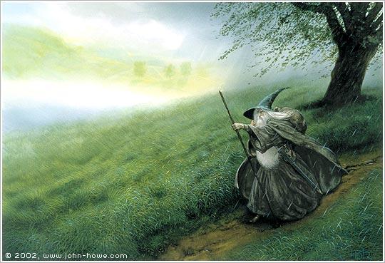 John Howe Drawings Gandalf The Grey