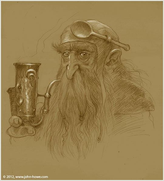 Le tabac des hobbits - Page 5 Pipe-smokin-dwarf-port