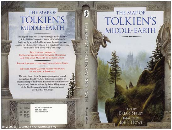 the map of tolkiens middle earth