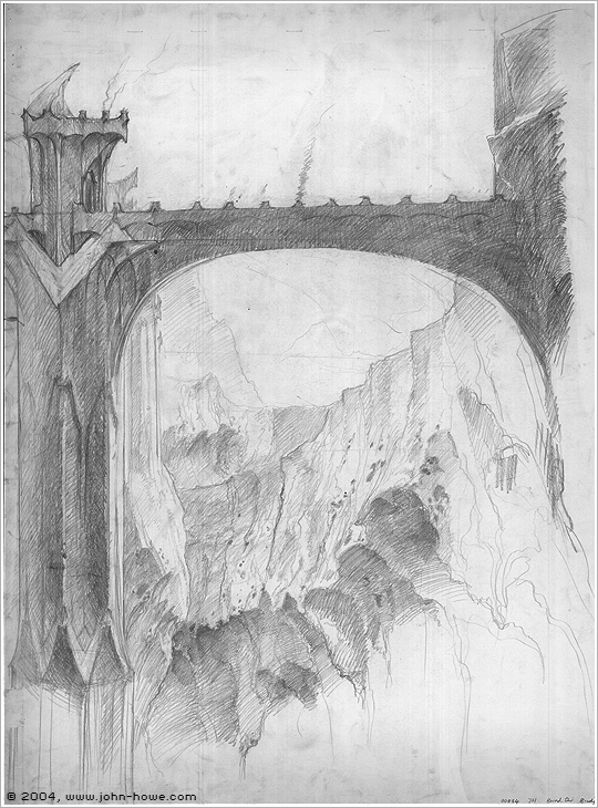 John Howe Drawings The Foundations of Barad-dûr